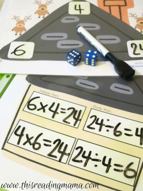Christmas Math Games With Dice Free Fact Families