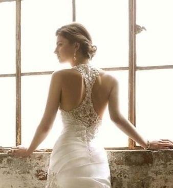 Racerback lace wedding dress   My Wedding Plans   Pinterest   Lace ...