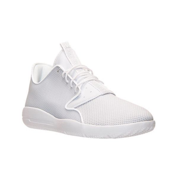 Nike Men's Air Jordan Eclipse Off Court Shoes ($110) ❤ liked on Polyvore featuring men's fashion, men's shoes, men's sneakers, white, nike mens shoes, mens sneakers, mens white shoes, mens leopard print sneakers and mens leopard print shoes