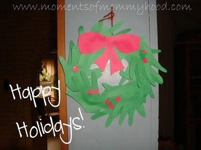 Hand Print Wreath: Hand Wreath, Christmas Crafts, Handprint Crafts, Handprint Art, Holiday Handprint, Crafts Christmas, Craft Ideas, Hand Footprint Crafts