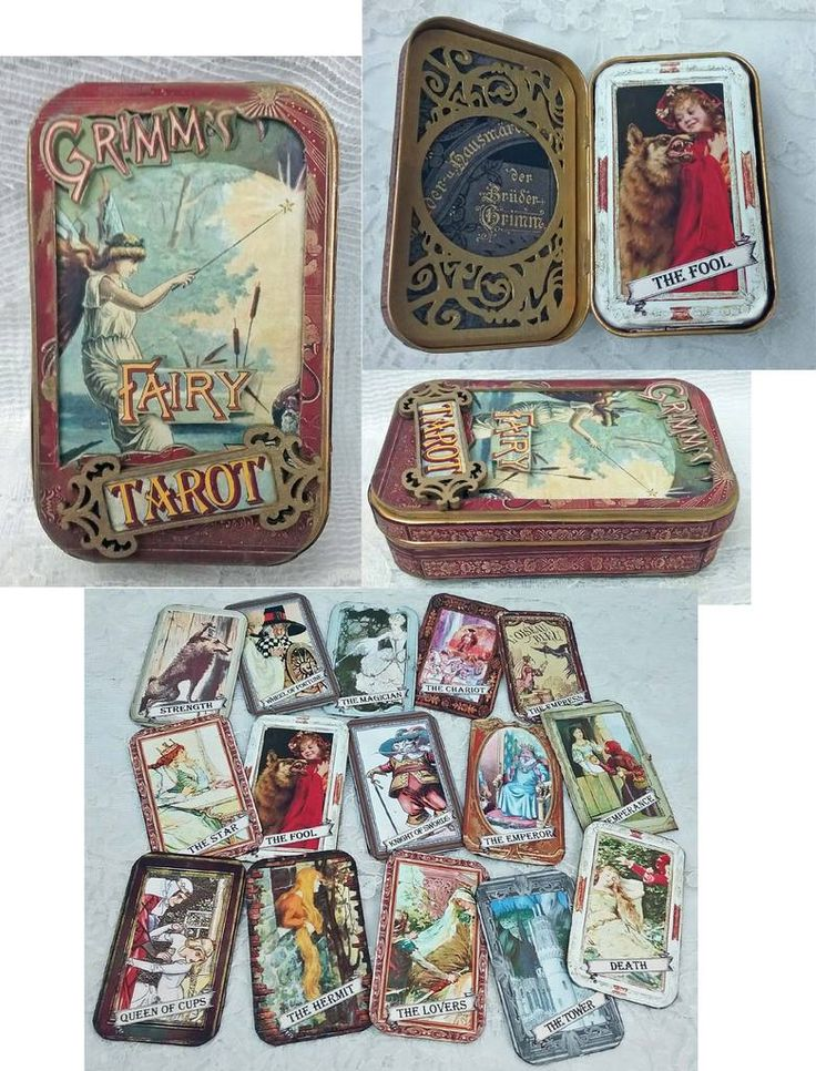 Artfully Musing: GRIMM'S FAIRY TAROT - FAIRY TALE THEMED TAROT CARDS IN AN ALTOIDS TIN BOX