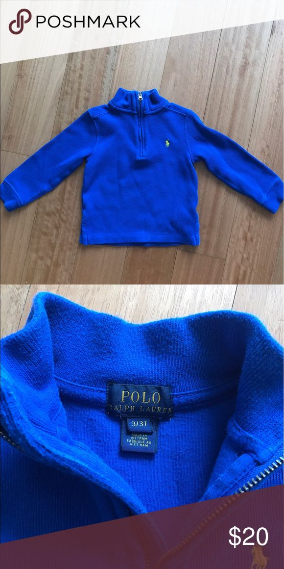 Polo 3T boys royal blue pullover. Ralph Lauren Polo Pullover sweater in royal blue, with yellow pony. Size 3T. Polo by Ralph Lauren Shirts & Tops Sweaters