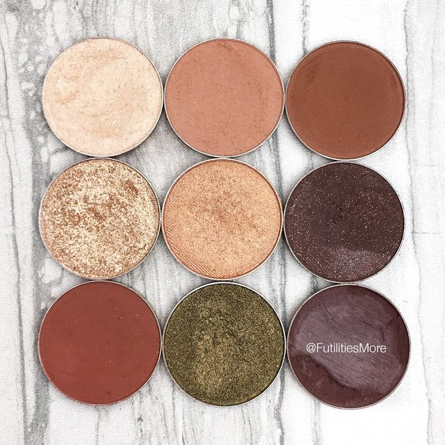 Makeup Geek palette inspiration and idea for Fall - Pictures and swatches