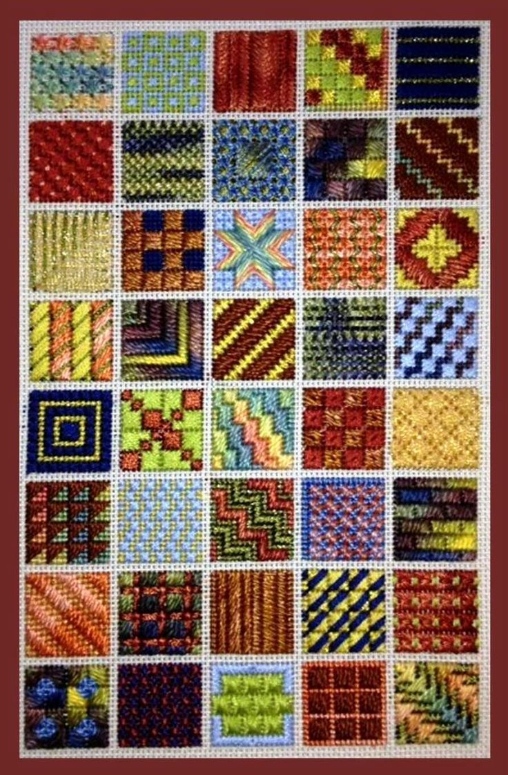 Needlepoint sampler.