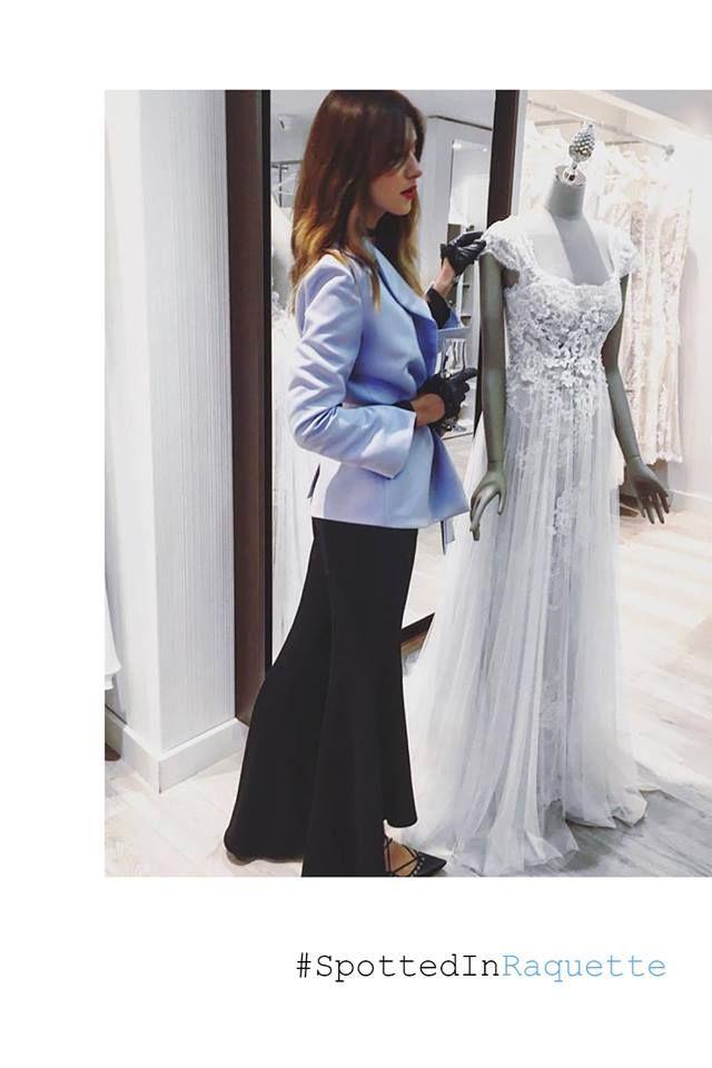 Luana Codreanu spotted in a Raquette Silk Kimono Blazer <3 #MaisonRaquette #MoleculeF, #PromenadaMall #Bucharest