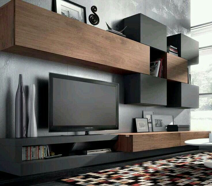 Image result for grey tone + timber entertainment unit