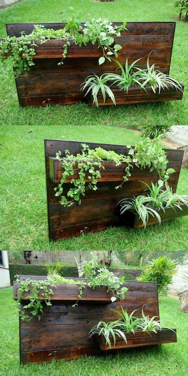 Skid Pallet Wood Reshape Projects Jardim In 2019 Pinterest
