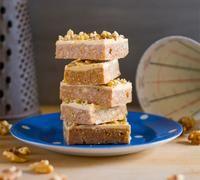 Coffee walnut fudge slice - Recipe