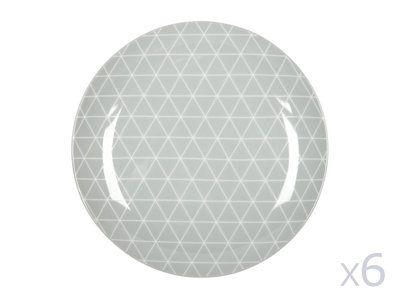 Caractéristiques techniques : Matière : porcelaine Diamètre : 20cm Motifs : graphisme Lot de 6 assiettes Les plus produit : Design et style scandinaves Sous forme de...