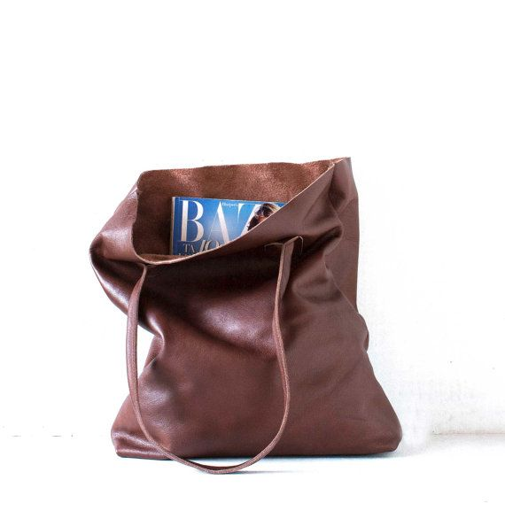 The Essential Tote in Chestnut Brown / Leather Tote Bag by morelle