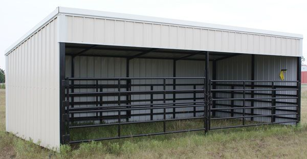 Small Horse Barn Designs | ... , Calving and Loafing Sheds, and Horse Barns - GoBob Pipe and Steel