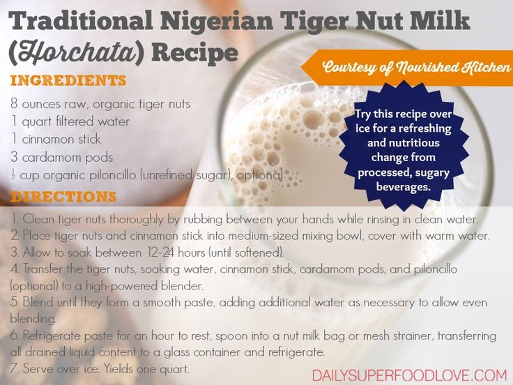 Read about the amazing benefits of horchata, and try this tiger nut milk recipe over ice for a refreshing and nutritious change from processed beverages.
