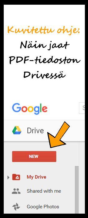 Ohje: Näin jaat PDF-tiedoston Drivessä. Voit linkittää tiedostoon esim. blogiin. http://www.haaraamo.fi/