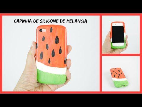 Como fazer uma capinha de celular de silicone - Melancia - YouTube