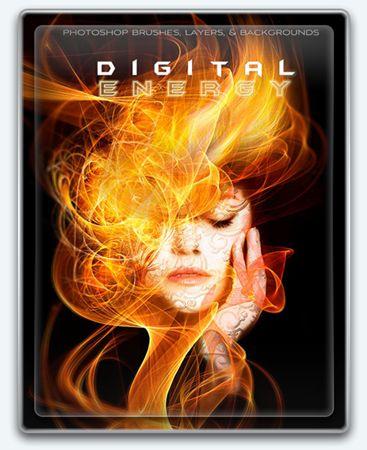 Ron's Digital Energy - набор инструментов Photoshop, созданный знаменитым Ron Deviney, который пригодиться и поможет Вам в Ваших творческих начинаниях. Коллекция включает в себя 65 кистей высокого разрешения, а также 164 (2113 x 3250 @ 300DPI) Photoshop прозрачных слоя и 5 фонов (1950 x 3250 @ 300DPI)
