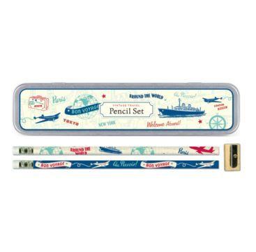 Pencil Set Vintage Travel - Bobangles.  #Bobangles #travel #design #gift #Australia