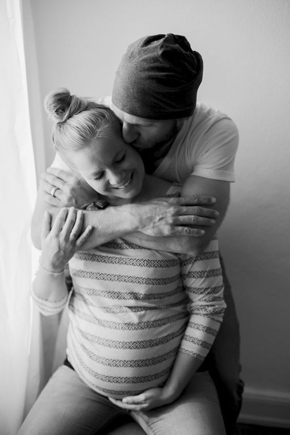 Holding you in my arms. Never let you go. Love. Couple Goal. Pregnant. Family go…