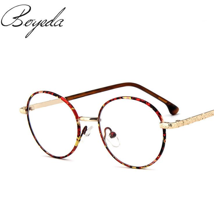 2017 Students Wind High Quality Fashion Men/Women Retro Round Metal Eyeglasses Frames Myopia Glasses Frame Optical Eyewear
