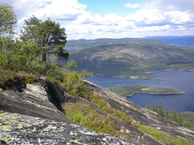 View from Skrede Mountain (Telemark Camping & Inn, Hauggrend Fyresdal, Norway)