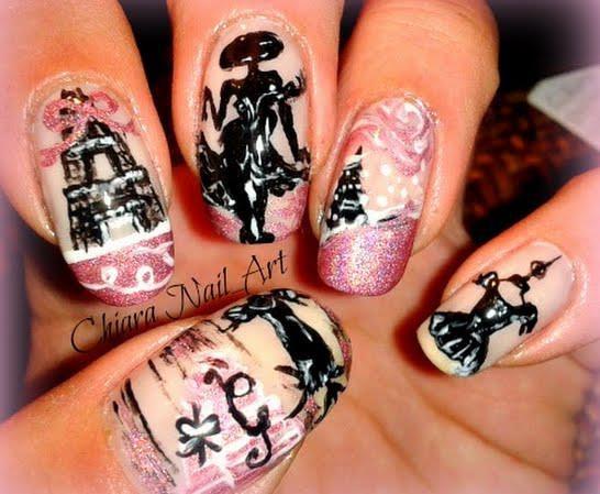 Nail art design paris : Nails art paris design vintage wardrobe malia thompson