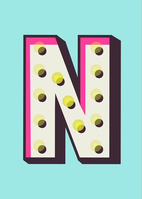 typography :: #N #lettering #alphabet