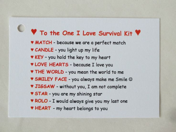 Novelty Survival Kit Gift One I Love Boyfriend Girlfriend Fiance Husband Wife | Other Celebrations & Occasions | Celebrations & Occasions - Zeppy.io