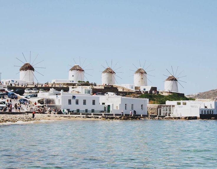 "LEILANI KRIENKE on Instagram: ""The windmills in Mykonos 🌬 . . . . #mykonos #travelpic #windmills #greekislands #sea #mykonoswindmill #travelgram #instadaily #tourist…"""