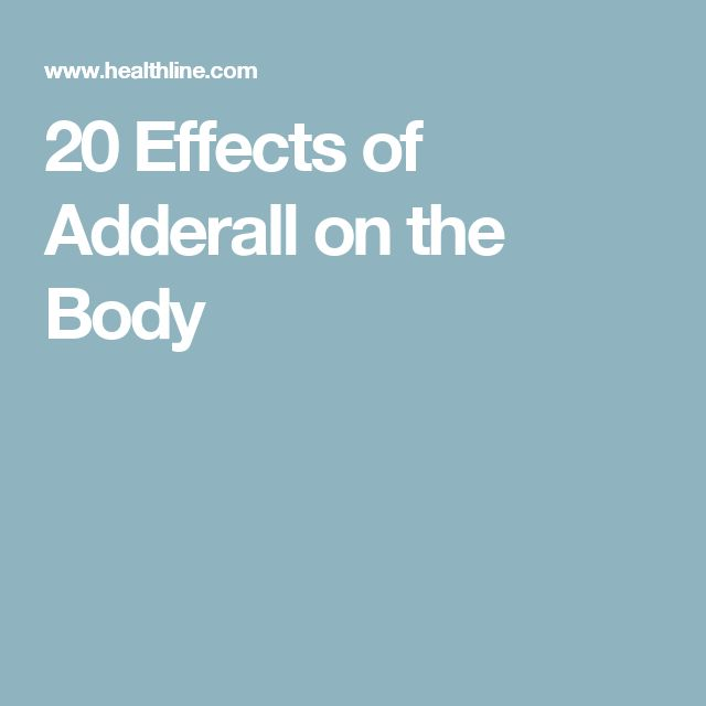 20 Effects of Adderall on the Body