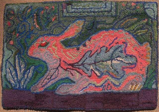 Rabbit In The Garden Hooked Rugs I Pinterest Rabbit