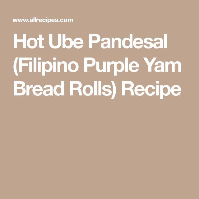 Hot Ube Pandesal (Filipino Purple Yam Bread Rolls) Recipe