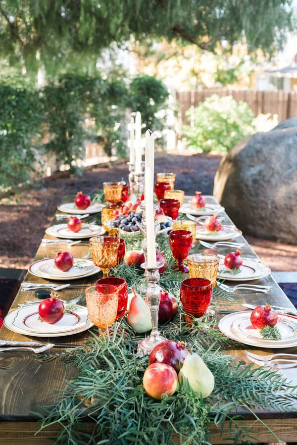 vintage rustic tablescape for intimate wedding/elopement