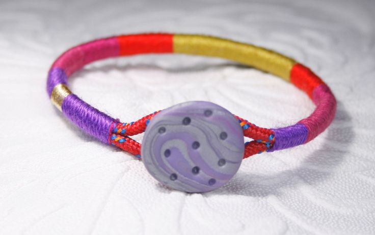 Color block bracelet,  Wrap Bangle, Polymer clay bracelet, woven bangle, braided bracelet, Rope bangle, Colorful bracelet, Multicolor bangle by SanguineJewelry on Etsy