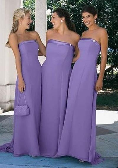 Pretty in lilac for bridesmaids! ...just don't forget to add Strap N' Guard fabulous pin-straps to secure your strapless when dancing... if you don't want to tug on your dress all night and be hands free ...this is a must-have ladies when wearing a strapless, and it looks fabulous too http://www.strapnguard.com/apps/webstore/products/show/2875584