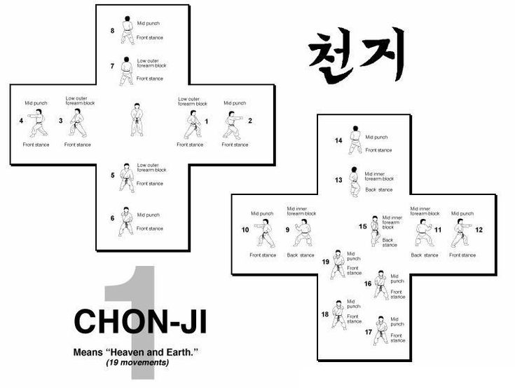 taekwondo forms itf diagrams | END: Bring the left foot back to a ready posture
