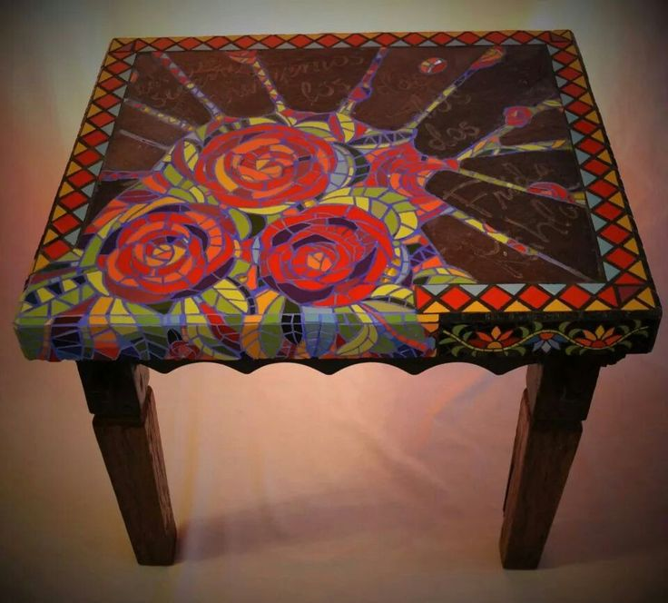 Frida Kahlo Mexican Mosaic Table