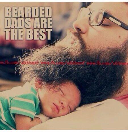 'Bearded Dad' Source : Instagram (thesikhbeard)