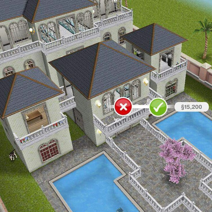 88 mejores im genes de the sims en pinterest casa de los for Casa de diseno sims freeplay