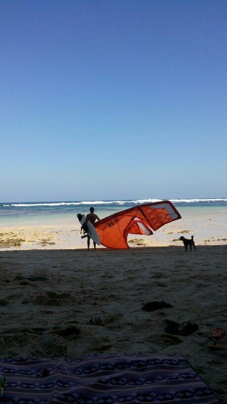 Kite surfing, Pandawa Beach