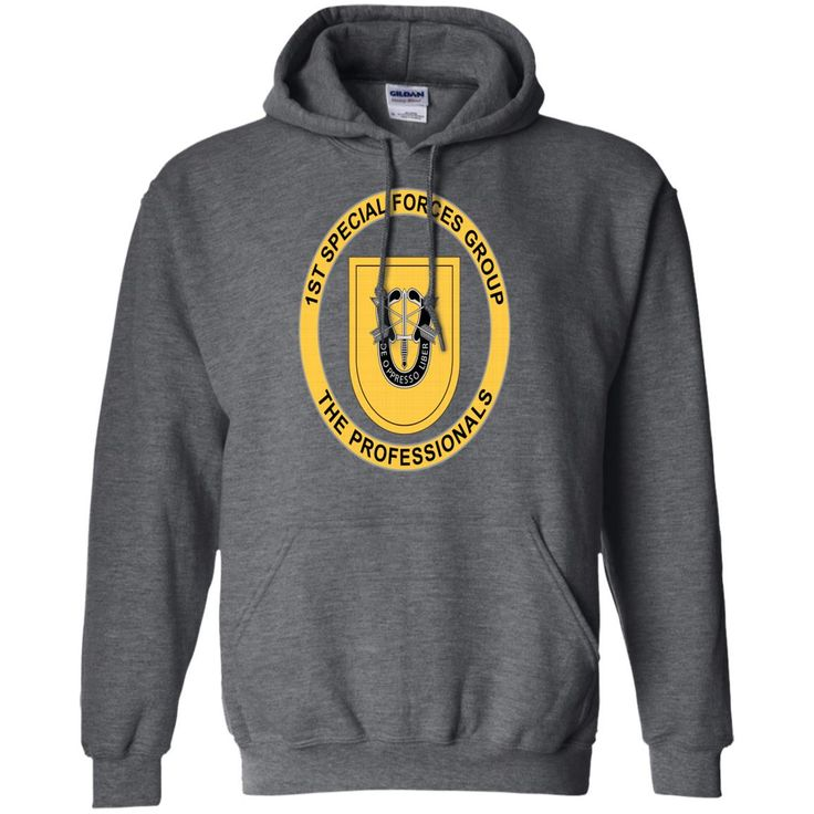 1ST SPECIAL FORCES GROUP MENS PREMIUM G185 Gildan Pullover Hoodie 8 oz.