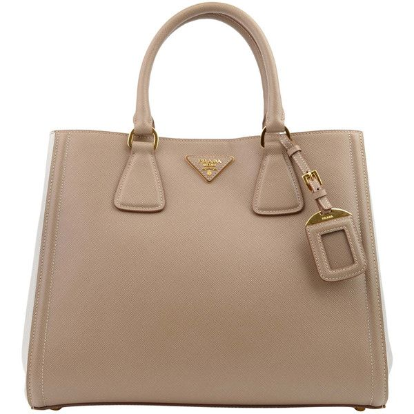 PRADA Saffiano Lux Bi Colour Tote and other apparel, accessories and  trends. Browse and shop 21 related looks.