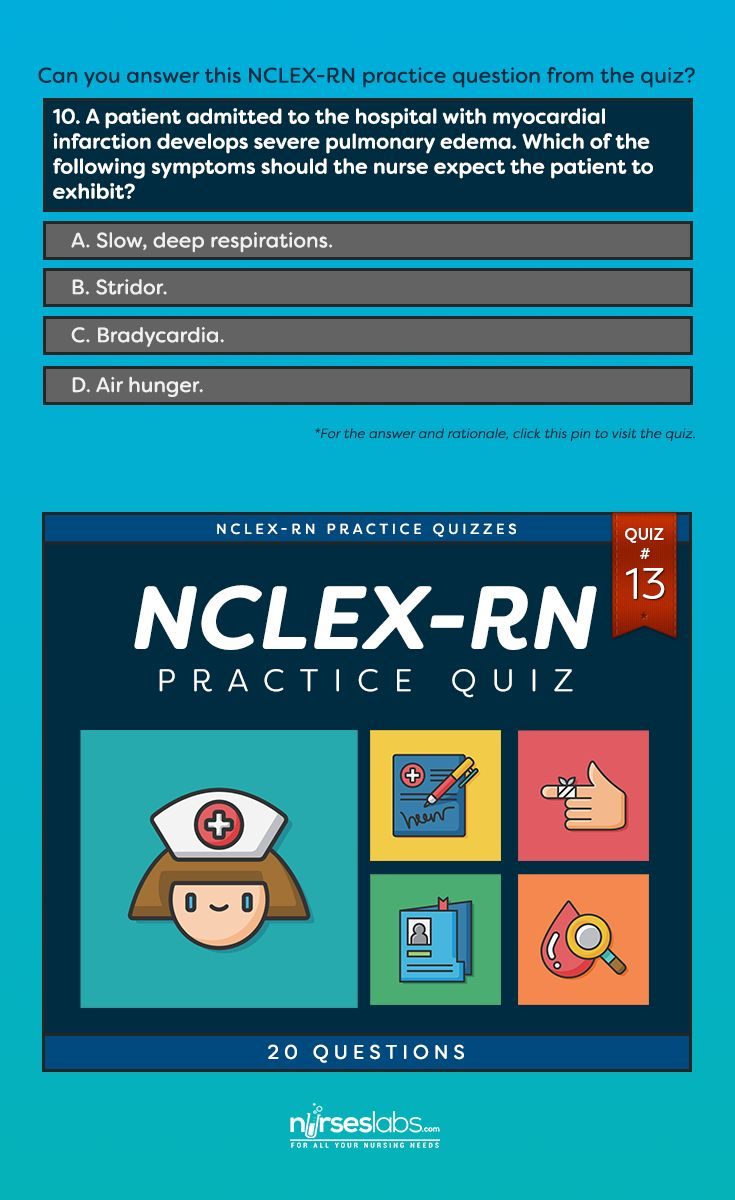 NCLEX-RN Practice Exam #13 (20 Questions)  For the answer: http://nurseslabs.com/nclex-practice-exam-13-20-questions/