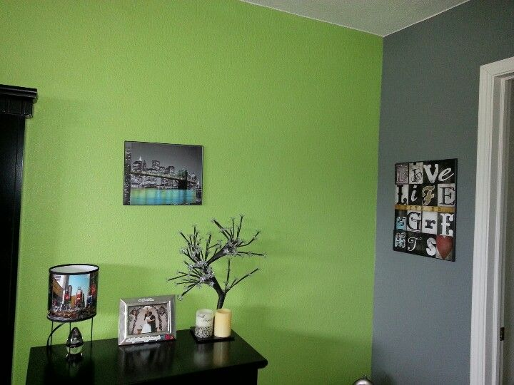 Lime green and grey paint | For the Home | Pinterest ...