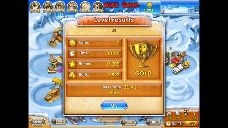 Farm Frenzy 3 Ice Age (level 33) only GOLD Веселая ферма 3 Ледниковый период (уровень 33) Золото