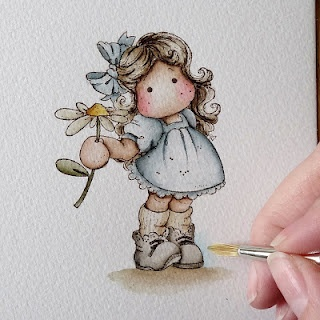 Fantastic photo tutorial of how to colour with Distress Markers from Cards by Becky