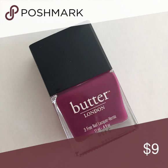 Butter London nail polish Queen Vic Used once. Full bottle pretty much. Stored appropriately, no issues, no separation. Mega chic color - named after Victoria Beckham Butter London Makeup