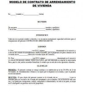 Contrato De Alquiler De Apartamento Contrato De Renta