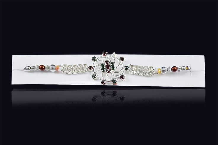 Rakhi+Online+Shopping+Free+Exclusive+Multi+Colour+Diamond+Price+₹0.00