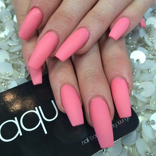 17 Best Ideas About Matte Pink Nails On Pinterest | Matt Nails Acrylics And Matte Acrylic Nails