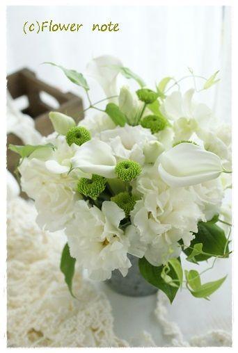 『【今日の贈花】ウェディングのイメージで』http://ameblo.jp/flower-note/entry-11572329124.html