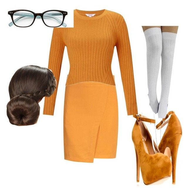 """Sexy Velma"" by mermaidmafiaaa ❤ liked on Polyvore featuring Miss Selfridge and Kate Spade"